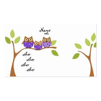Três corujas cartão de visita