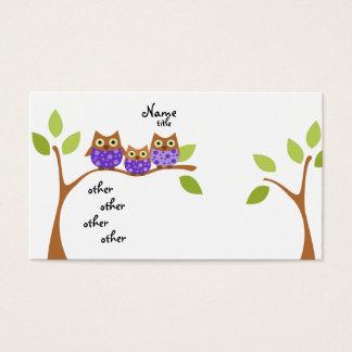 Três corujas cartão de visitas