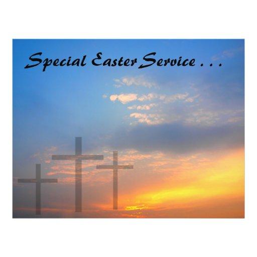 Três cruzes e nasceres do sol panfleto personalizados