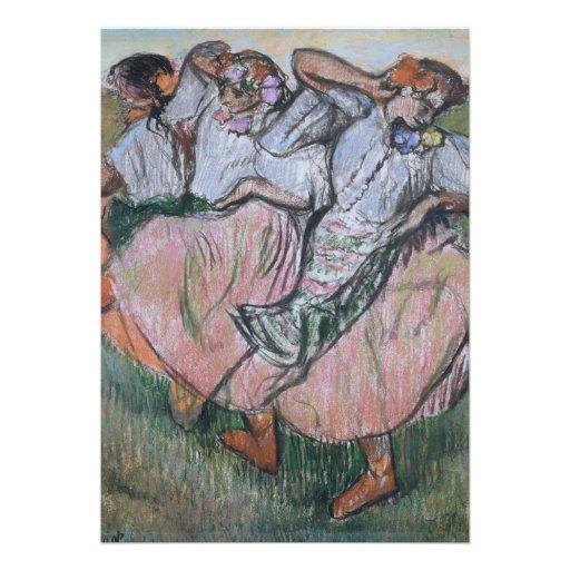 Três dançarinos do russo por Edgar Degas Convites Personalizados