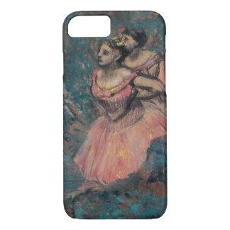 Três dançarinos no traje vermelho por Edgar Degas Capa iPhone 7