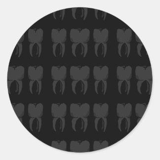 Três etiquetas sábias do dentista dos dentes