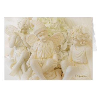 Três fadas do alabastro cartão comemorativo
