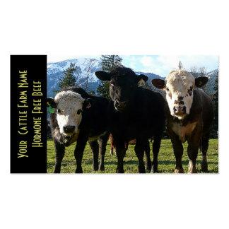 Três gados bovinos dos amigo cartão de visita