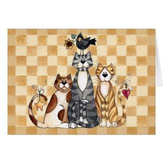 Três gatos - cartão vazio