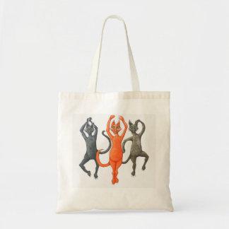 Três gatos de dança sacola tote budget