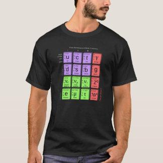 Três gerações de camisa dos Fermions da matéria