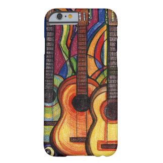 Três guitarra capa barely there para iPhone 6