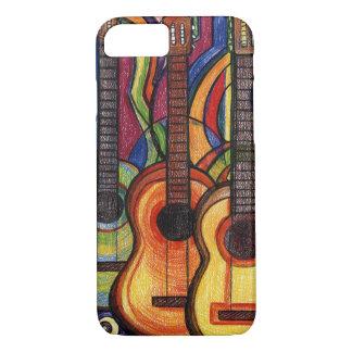 Três guitarra capa iPhone 7