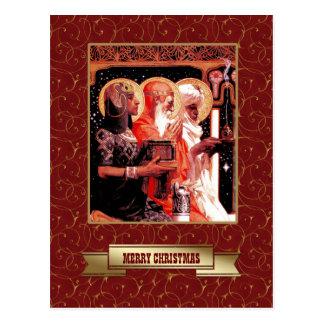 Três homens sábios. Cartão do Natal