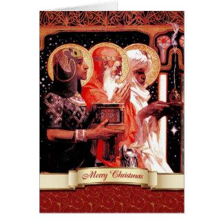 Três homens sábios. Cartões do Natal