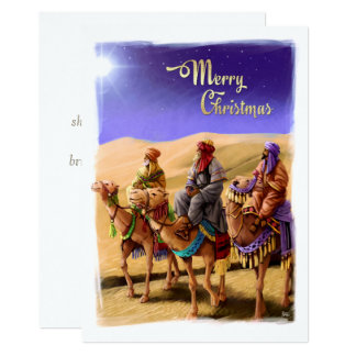 Três homens sábios que pintam cartões de Natal Convite 12.7 X 17.78cm
