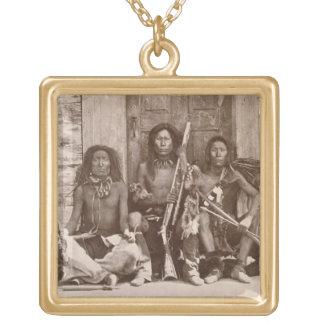 Três indiano Braves, fotografado pelo inglês real Bijuterias Personalizadas