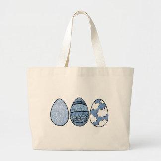 Três ovos azuis bolsa tote grande