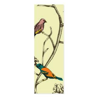Três pássaros que falam o cartão de visita magro d