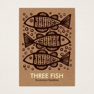 Três peixes - caixa de cartão Tex