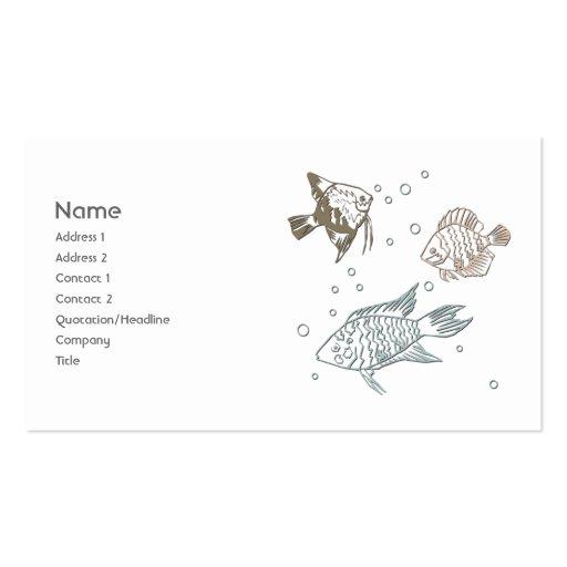 Três peixes cartões de visita