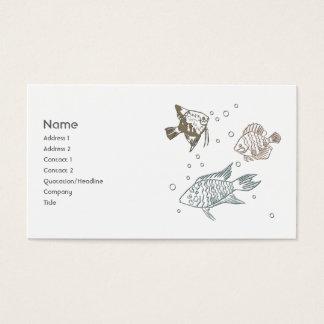 Três peixes cartão de visitas