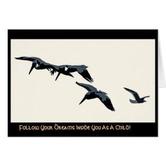 Três pelicanos & cartões de Digitas da gaivota