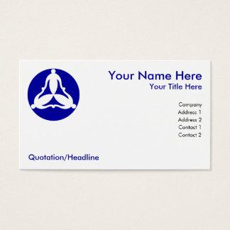 Três pessoas ligadas cartão de visitas