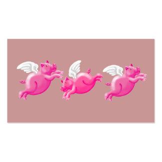 três porcos de voo cartão de visita