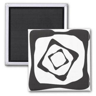 Três quadrados ásperos em resumo ímã quadrado