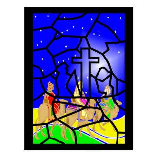Três reis Natal Cartão