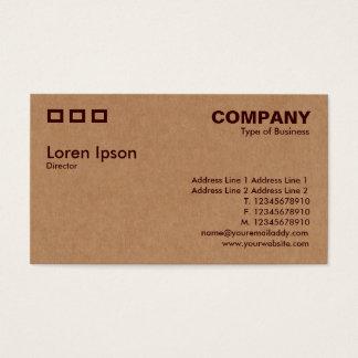 Três retângulos - textura da caixa de cartão