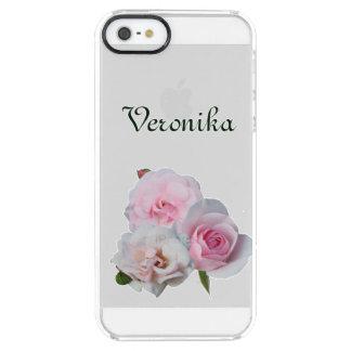 Três rosas cor-de-rosa capa para iPhone SE/5/5s transparente