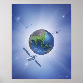 Três satélites poster