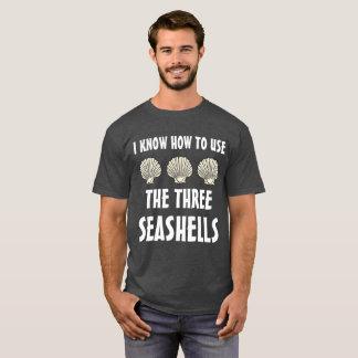 Três Seashells Meme Camiseta
