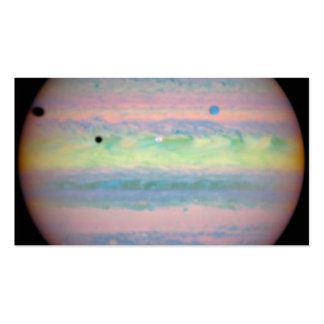 Três sombras do molde das luas em Jupiter Cartão De Visita