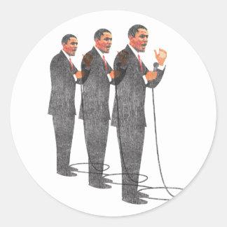 Três ternos - inauguração de Obama Adesivo Em Formato Redondo