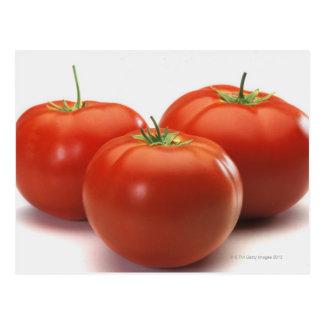 Três tomates no contador, fim-acima cartão postal