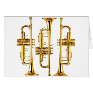Três trombetas cartão comemorativo