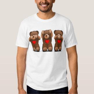 Três ursinhos sábios, impressão do urso de ursinho tshirt
