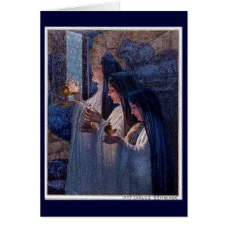 Três virgens sábias pelo cartão das belas artes de