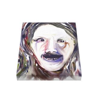 Tresvario - cara louca do Expressionism 11x14 em c Impressão Em Canvas