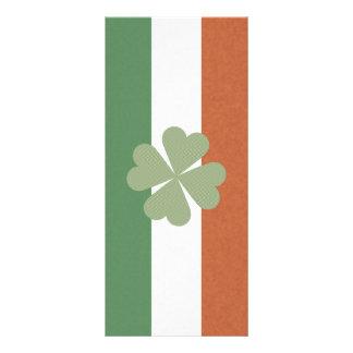 Trevo afortunado encantador irlandês 10.16 x 22.86cm panfleto