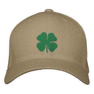 Trevo bordado da folha do irlandês quatro boné bordado