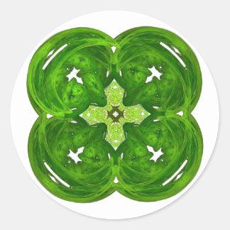 Trevo brilhante da folha da arte quatro do Fractal Adesivo