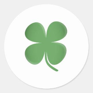 Trevo da folha do verde quatro adesivo