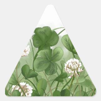 Trevo de quatro folhas adesivo triangular