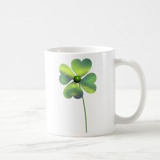 Trevo de quatro folhas caneca de café