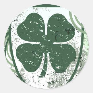 trevo de quatro folhas: fidelidade: adesivo