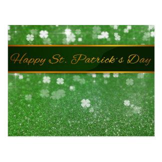 Trevo do brilho do dia de St Patrick - cartão