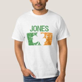 Trevo do sobrenome de Jones T-shirts