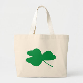 Trevo irlandês bolsa tote grande