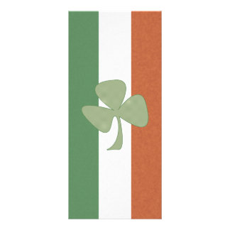 Trevo irlandês do verde & do ouro 10.16 x 22.86cm panfleto
