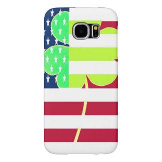 Trevo irlandês St Patrick do trevo da bandeira Capa Para Samsung Galaxy S6